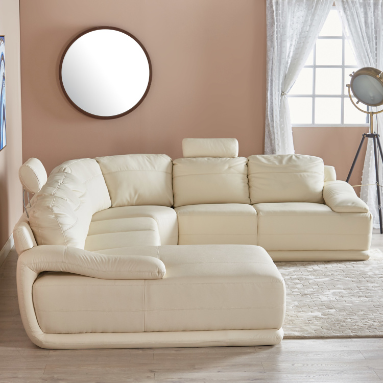 Alfred 6-Seater Faux Leather Left Corner Sofa