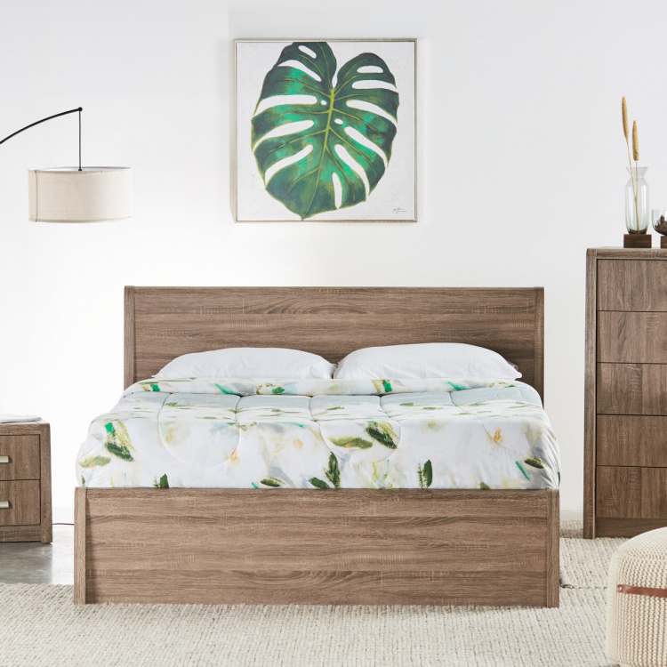 Saturn Panelled King Bed with Headboard - 180x210 cms