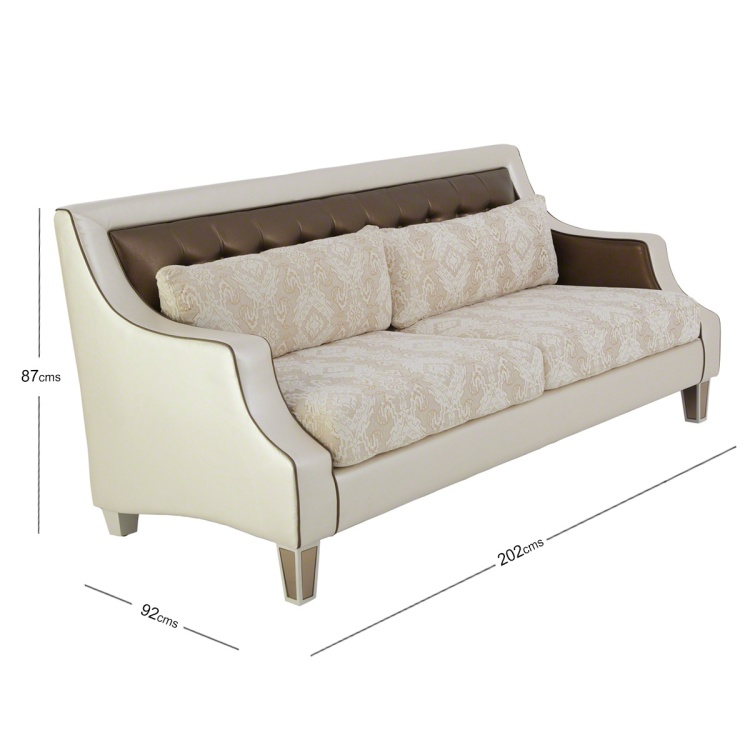 Kingston 3-Seater Fabric Sofa