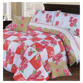 Vintage Rose 3-piece Super King Duvet Cover Set - 220x260 cms