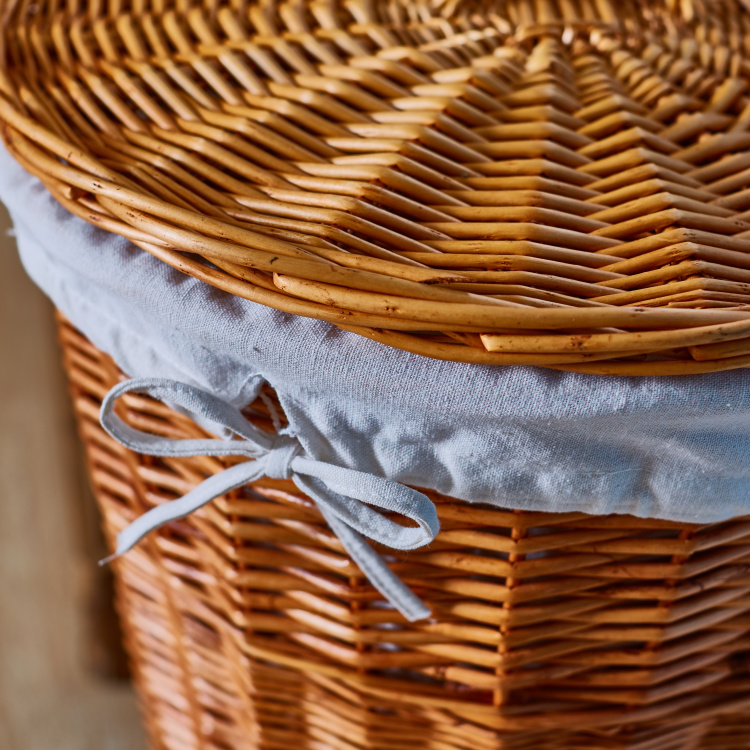 Zivi Handcrafted Laundry Basket with Lid