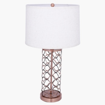 Amaze Handmade Table Lamp with Metallic Stand - 73 cms