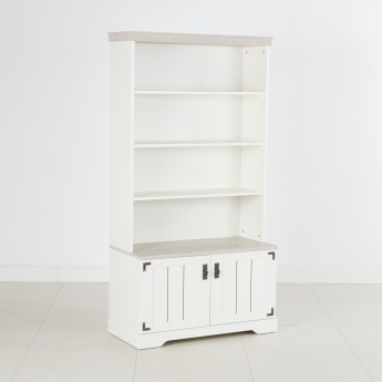 Leon 3-Shelf Book Case with 2-Doors