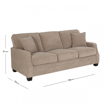 Galaxy 3-Seater Sofa with Scatter Cushions