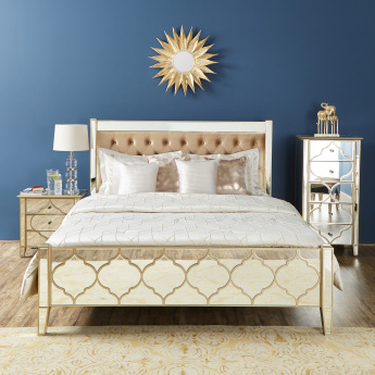 Casablanca King Platform Bed with Tufted Headboard - 188x224 cms