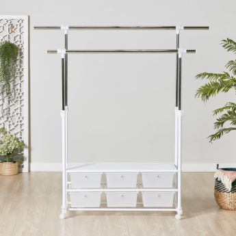 Ultra 6 Drawer Clothes Rack