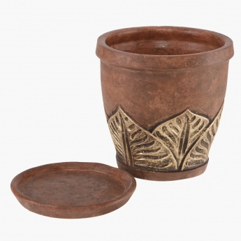 Leaves planter 21.5 cms