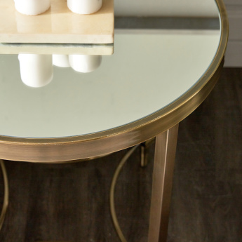 Veneto End Table with Mirror Top