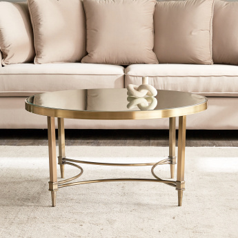 Veneto Coffee Table with Mirror Top