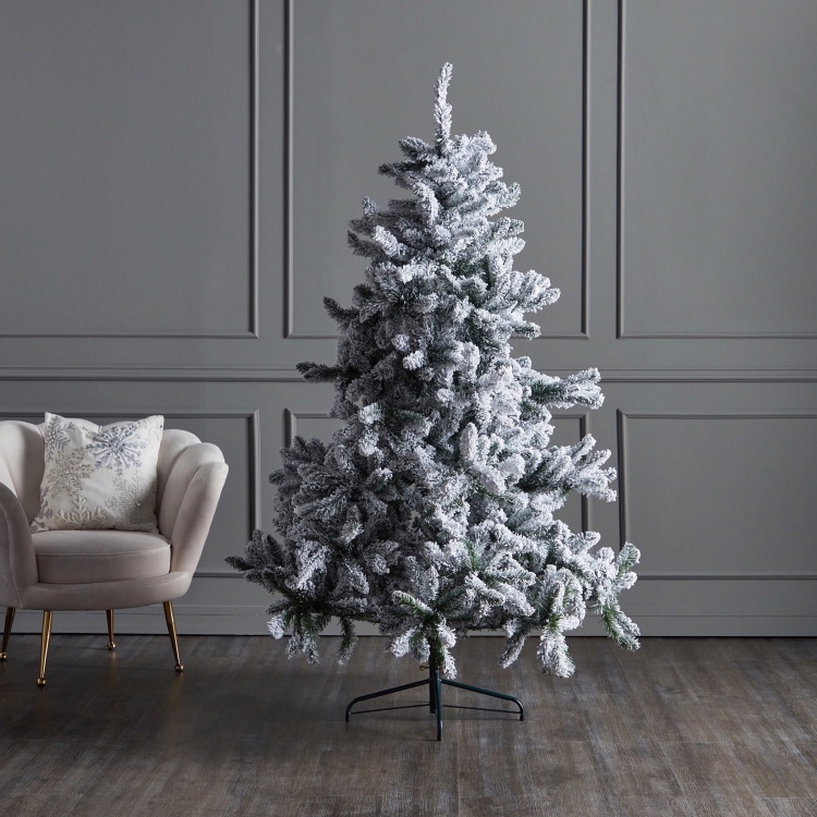 Xmas Bavarian Snow Christmas Tree 6 ft