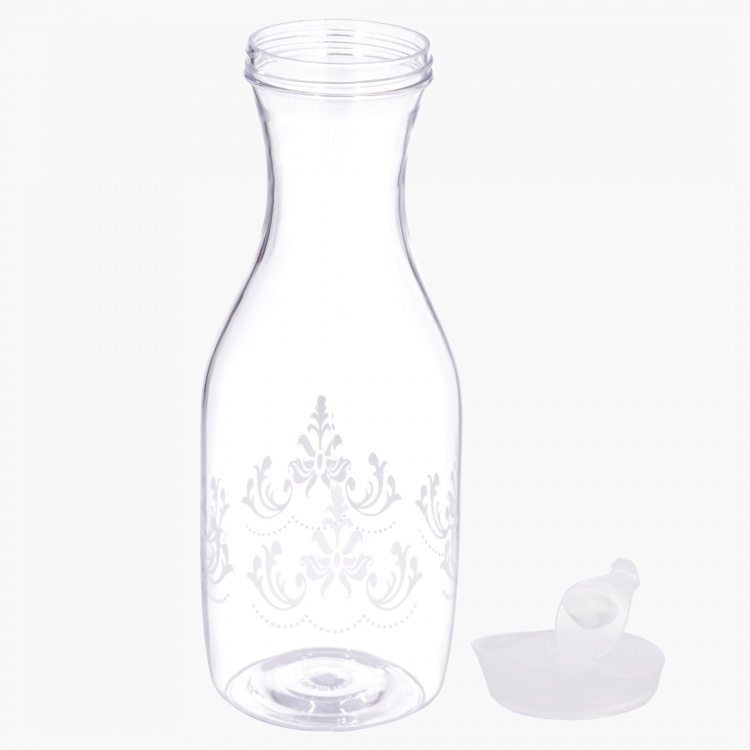 Milk Storage with Floral Cream Design