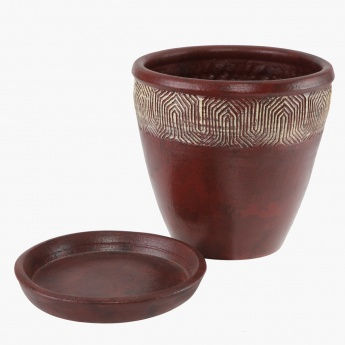 Mirage Planter with Saucer 35 cms