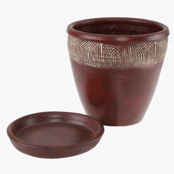 Mirage Planter with Saucer 21.5 cms
