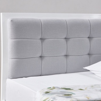 Next King Bed with Tufted Headboard - 180x210 cms