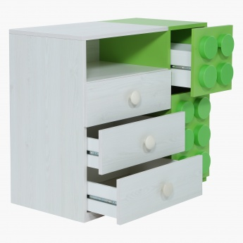 Blocks Chest of 4-Drawers with 1 Door