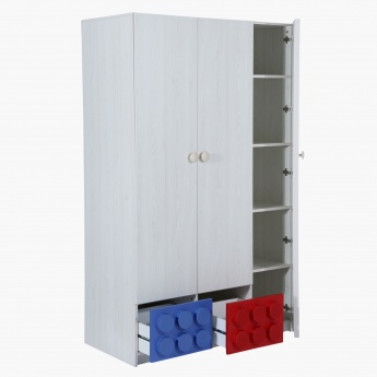 Blocks 3-Door Wardrobe