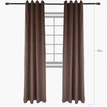 Ribz Corduroy 2-piece Curtain Set - 140x300 cms