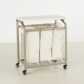 3-bag Laundry Sorter with Ironing Table