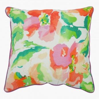 Belle Floral Filled Cushion - 45x45 cms