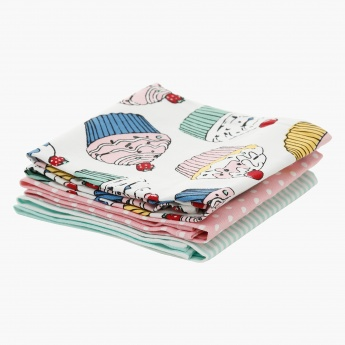 Cupcakes 3-piece Kitchen Towel Set - 50x70 cms