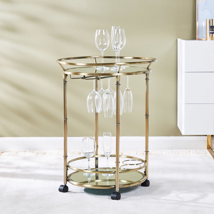 Veneto 2-Tier Serving Trolley with Lockable Casters