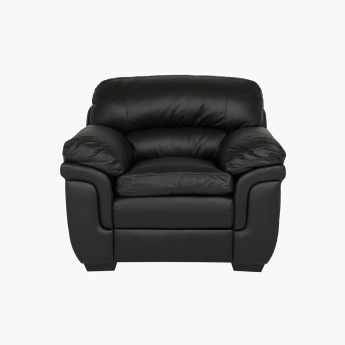 Taylor 1-Seater Leather Armchair with Splayed Arms