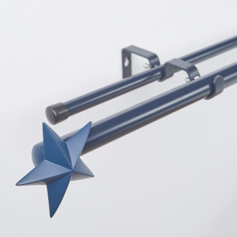 Star Charmz Double Extendable Curtain Rod - 132x365 cms