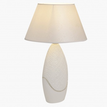 White Moon Table Lamp - 51 cms
