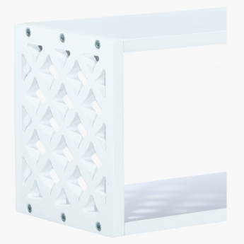 Arto Wall Shelf with Cutwork Detail