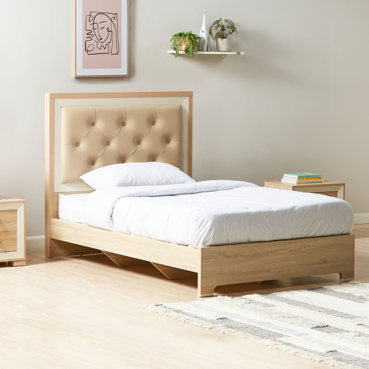 Hayden Bed with Tufted Headboard - 120x200 cm