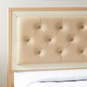Hayden Single Bed with Tufted Headboard - 212x129 cms