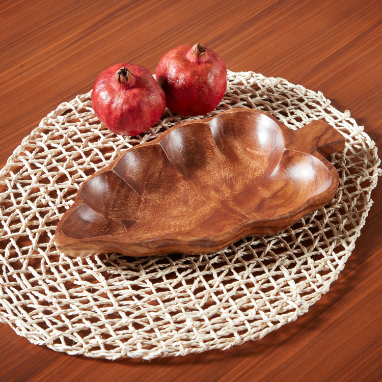 Acacia Decorative Leaf Tray