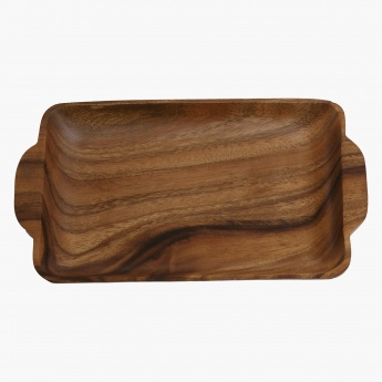 Acacia Wooden Rectangular Tray