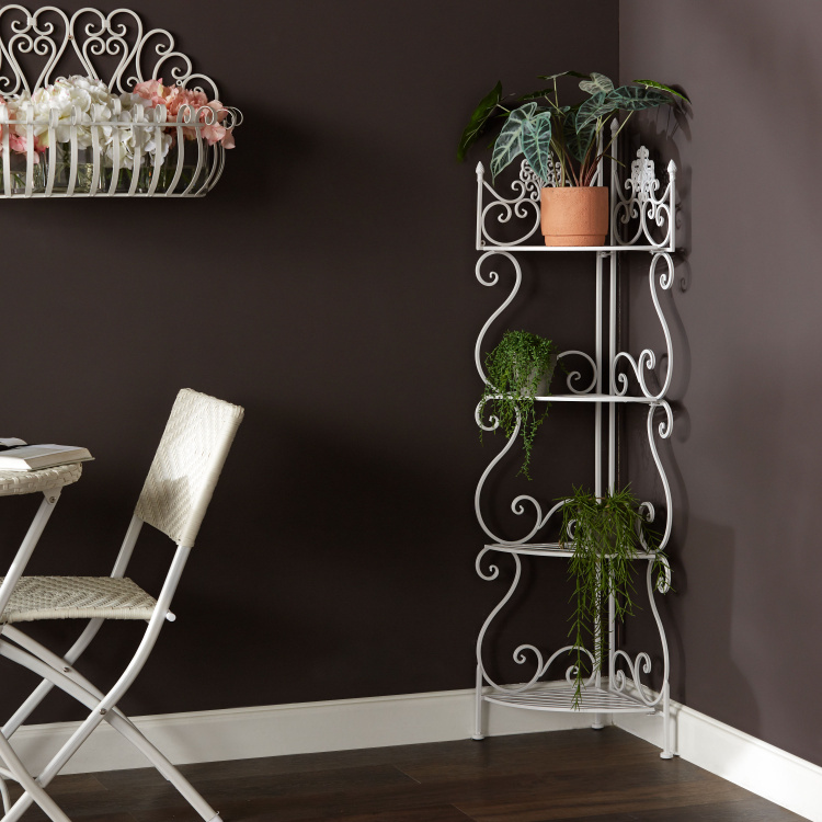 Sequia 4-Tier Corner Plant Rack