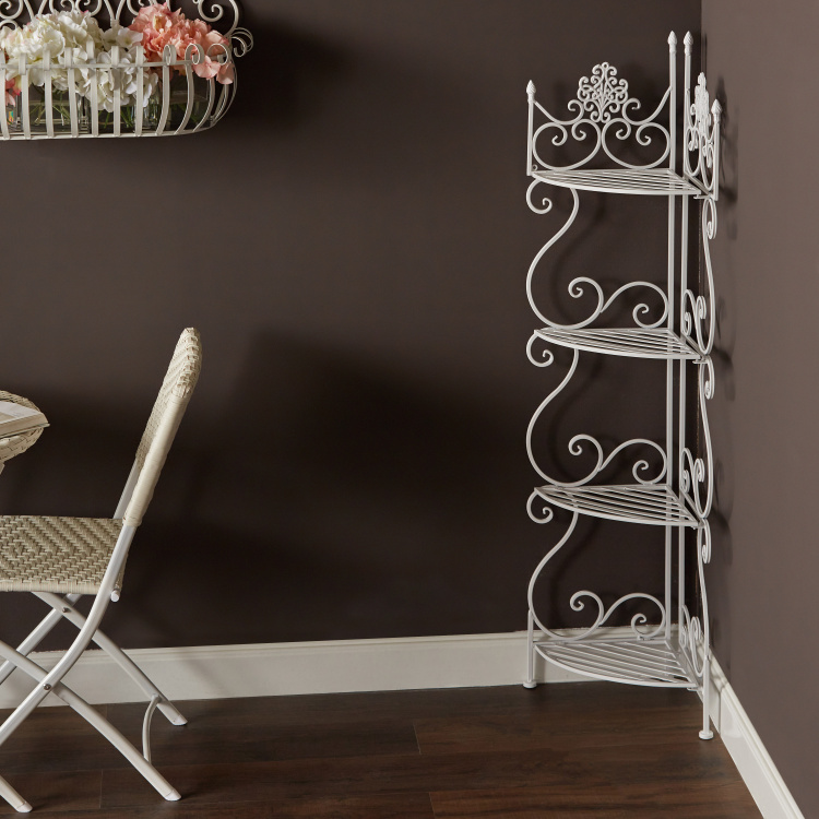 Sequia 4-Tier Corner Rack - 32x32x135.5