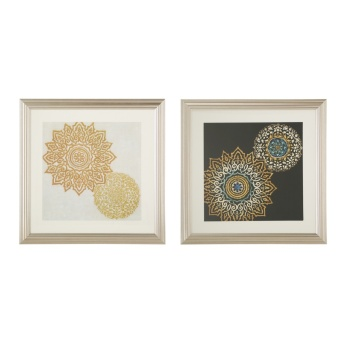 Arabic Star Picture Frames Set of 2