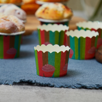Striped Baking Cups - Set of 25