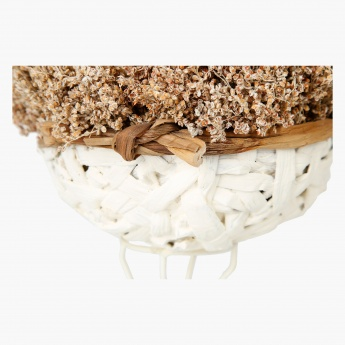 Alden Mix Roses in Weave Metal Round Planter