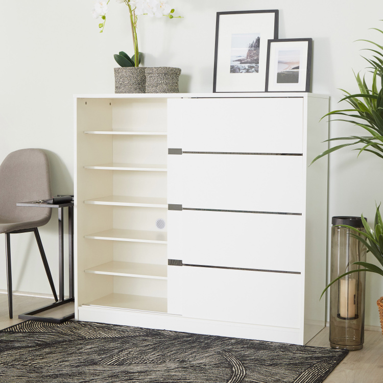 Betrib Sliding 2-Door Shoe Cabinet