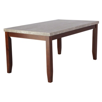 Oxville 6-Seater Dining Table with Marble Top