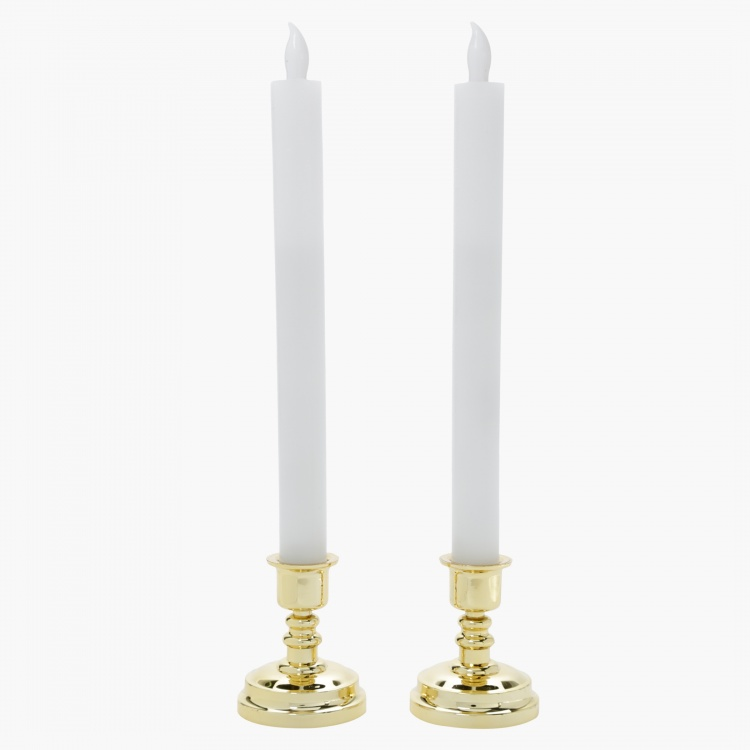 Sparkle LED Taper Candle - Set of 2