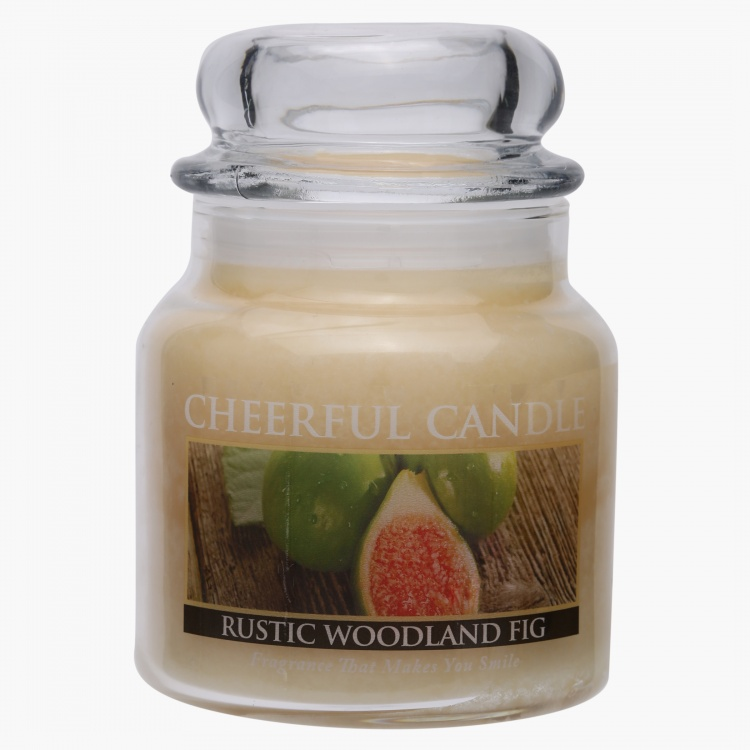 Rustic Woodland Fig Jar Candle