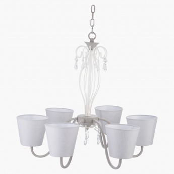 Icefall 6-Light Metallic Chandelier