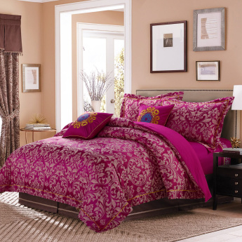 Juliet Printed 7-Piece Bedding Set - 260x260 cms