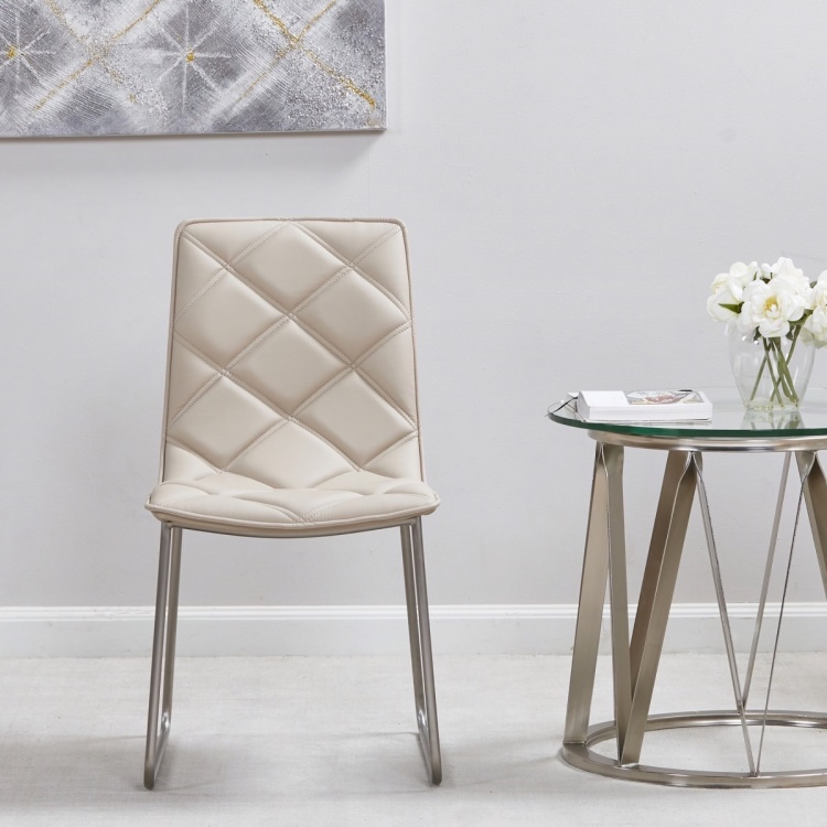 Harper Tufted Armless Dining Chair
