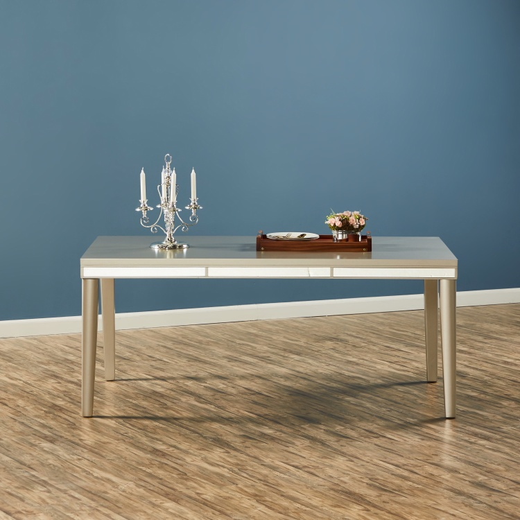 Majestic 6-Seater Wooden Top Dining Table
