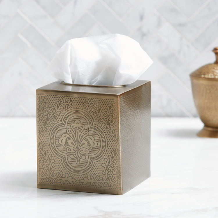 Antiquette Square Tissue Box Holder