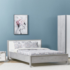 Petra Queen Bed with Headboard - 155x205 cms