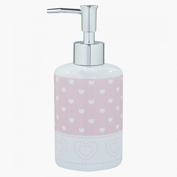 Cute Heart Printed Soap Dispenser