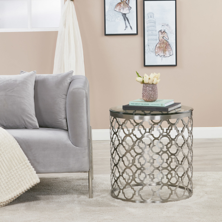 Nimbus End Table with Glass Top
